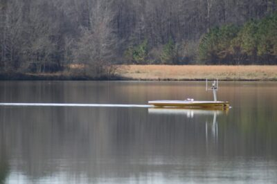 SeaTrac SP-48 at work sampling the waters in Whites Creek Lake, Mississippi.